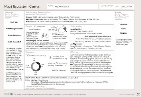 Fluidtime-MaaS ecosystem canvas - example district level