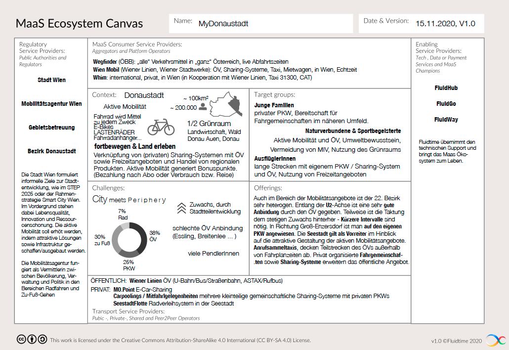 Fluidtime-MaaS ecosystem canvas - example 2