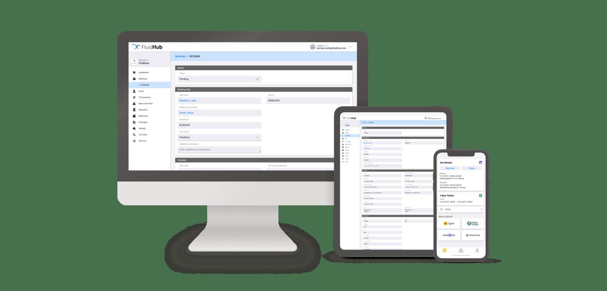 Fluidtime_MaaS Plattform FluidHub_Header
